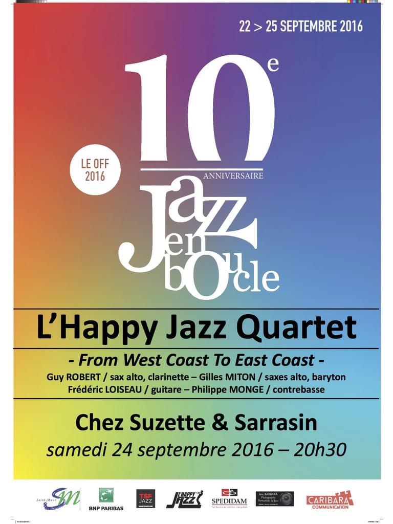 Affiche de L'Happy Jazz Quartet à Jazz en boucle 2016
